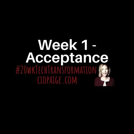 Week 1 - Acceptance